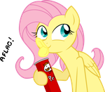 Flutershy in: Pringles Product Placement COLORED by Drewdini