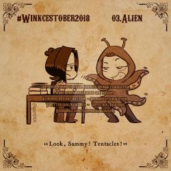 Winkcestober 2018 day 03:Alien by KamiDiox