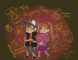 Dipper and Mabel by Mrwolfbite