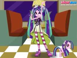 Aria Blaze in her concert form(New Version) by Lydiathecrystalgem