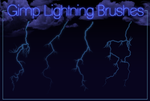 Gimp Lightning Brushes By Geosammy by Geosammy