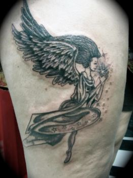 Angel tattoo by theangellilith