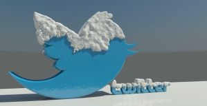 Twitter winter 3D by Swpp