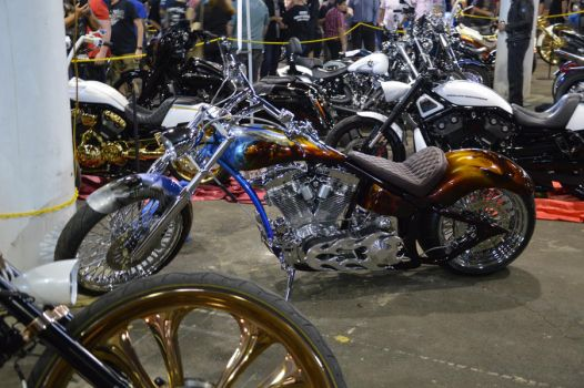 flaming bankstown custom motorcycle show 2017 by WolfBlitz2