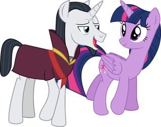 Neighsay and Twilight by illumnious