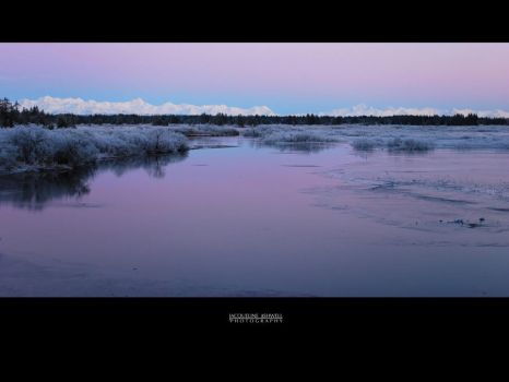 Winter Sunset, Tawah Creek by Isquiesque