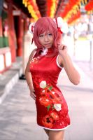 Love Live! Chinese dress: Maki - Hair twirl by ruby-hearts