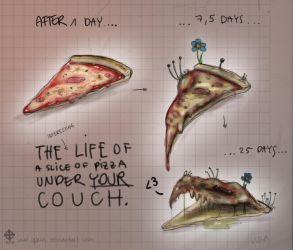 PIZZA monster evolution by Opaca