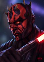 DARTH MAUL / STAR WARS FAN ART / Time-lapse by Byzwa-Dher