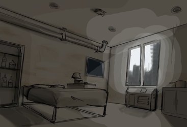 Solomon's Apartment rough by Csp499