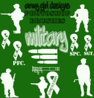 Military Brushes by armygirldesigns