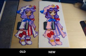 Patchouli Knowledge (old vs. new) by MagicPearls