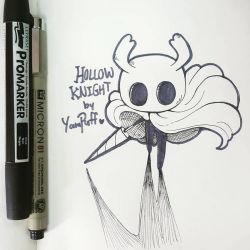 Inktober 2018 Day 1 ::Hollow Knight:: by YamPuff