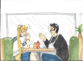 Me and Usagi Tsukino @ a Cafe by FromEquestria2LA