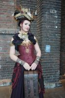 Stock - Steampunk lady pirate pirat travel by S-T-A-R-gazer