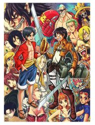 Shingeky no One Piece by peterete