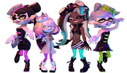 Squid Sisters and Off the Hook by Kameron-Haru