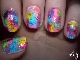 Circus Nail Design by AnyRainbow