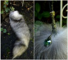 Blue Frost fox tail charm by AdarkerNEMISIS