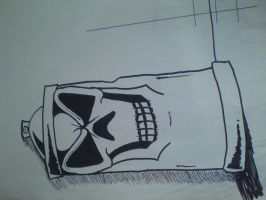 Skull Paint Can Sketch by Plageman18