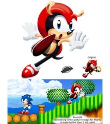 Mighty the Armadillo - HD sprite by MarkProductions