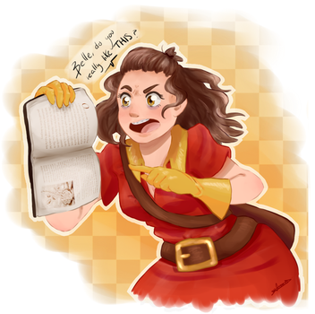 Draw yourself as a disney villain challenge-Gaston by Salo-Meh