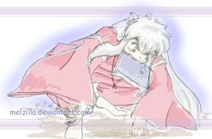 Inuyasha's Wish   sketch by melzilla