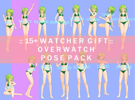 :: mmd pose pack :: 15+ watcher gift - overwatch by atoswirl