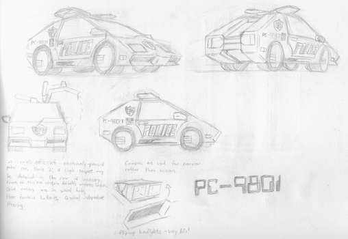 Comic concepts - Eigen City Police Car by illogictree