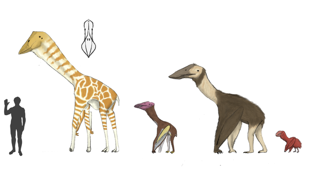 The Redesigned Dinosaurs, the Pterrestrials by Dragonthunders