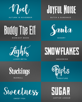 Christmas Font Pack by theoutlandish