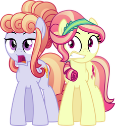 Commission: Crystal ponies shocked - Vector by TheArtsyEmporium