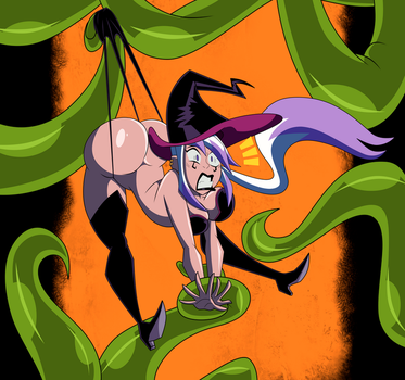 Halloween Commission: Charmcaster Halloween Wedgie by grimphantom