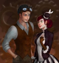 Commission: Kit and Lady Clara by TerinCat