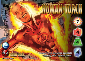 Human Torch (Johnny Storm) Character by overpower-3rd