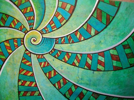 spiral 111 turquoise by santosam81