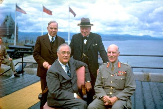 Allied leaders - First Quebec Conference - 1943 by YamaLama1986