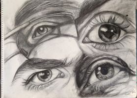 Eye Study - life drawing by 7AirGoddess3