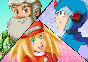 Megaman Anniversary collab! by Gingler