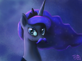 Luna is ready for No-Shave November by TurboSolid