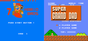 7 MARIO BROS and Super Grand Dad by geno2925