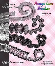 Manga Lace Brushes by Cospigeon