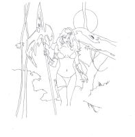 Cavewoman art (300dpi) by electronicdave