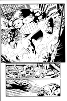 Wolverine Sample page 2 inks by JosephLSilver