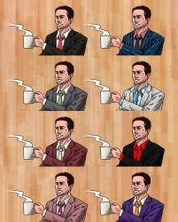 Deadly Premonition - Agent York's Suits by Dark-Pen