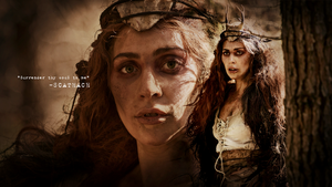 Lady Gaga as Scathach - AHS: Roanoke (wallpaper) by Panchecco