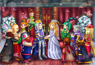 FF IV - The Wedding of Cecil and Rosa by Azurelly