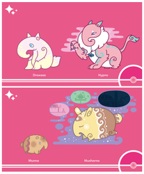 Shiny Request - Drowzee and Munna Line - by Cosmopoliturtle