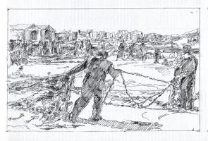 Fisherman's Net - Sketch no #008 by tutanvaly