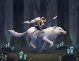 Princess Mononoke by AlyssaTallent
